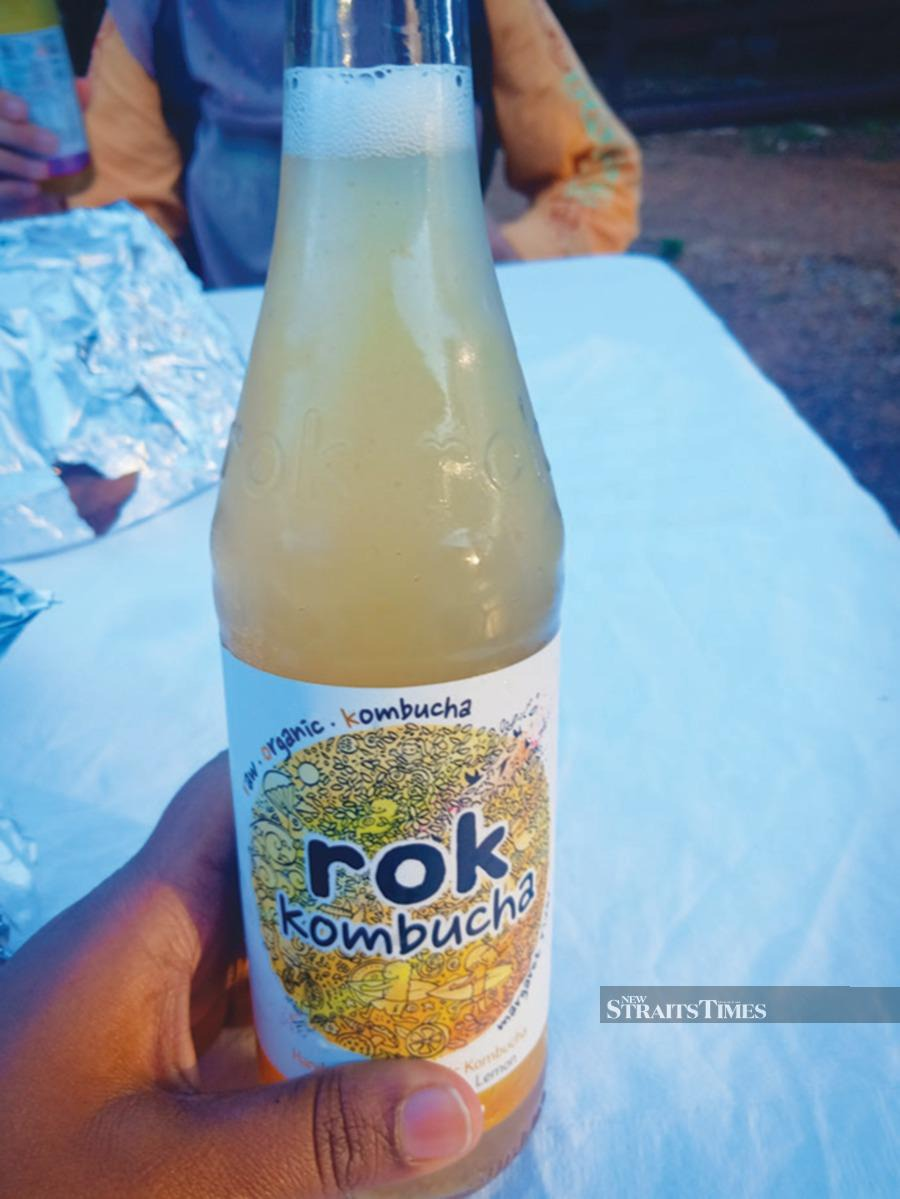 Kombucha is a probiotic drink brewed locally at Margaret River.