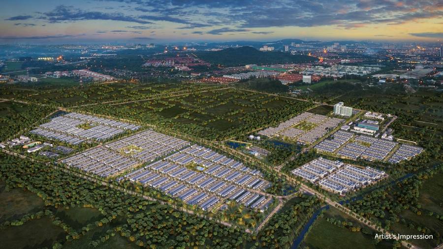 The first batch of IBS-built homes in LBS Alam Perdana township, Simfoni Perdana and Irama Perdana were delivered nine months ahead of schedule. An artist impression of LBS Alam Perdana