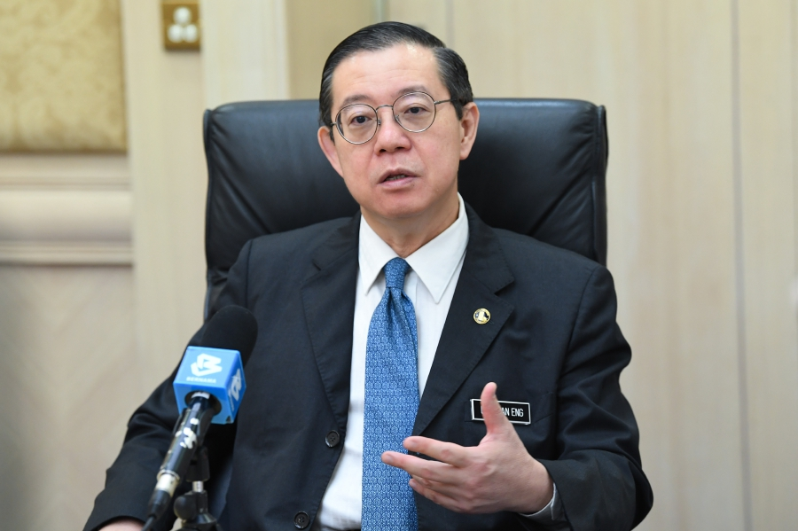 Finance Minister Lim Guan Eng speaking during an exclusive interview with Bernama International News Service at Ministry of Finance recently. --BERNAMA