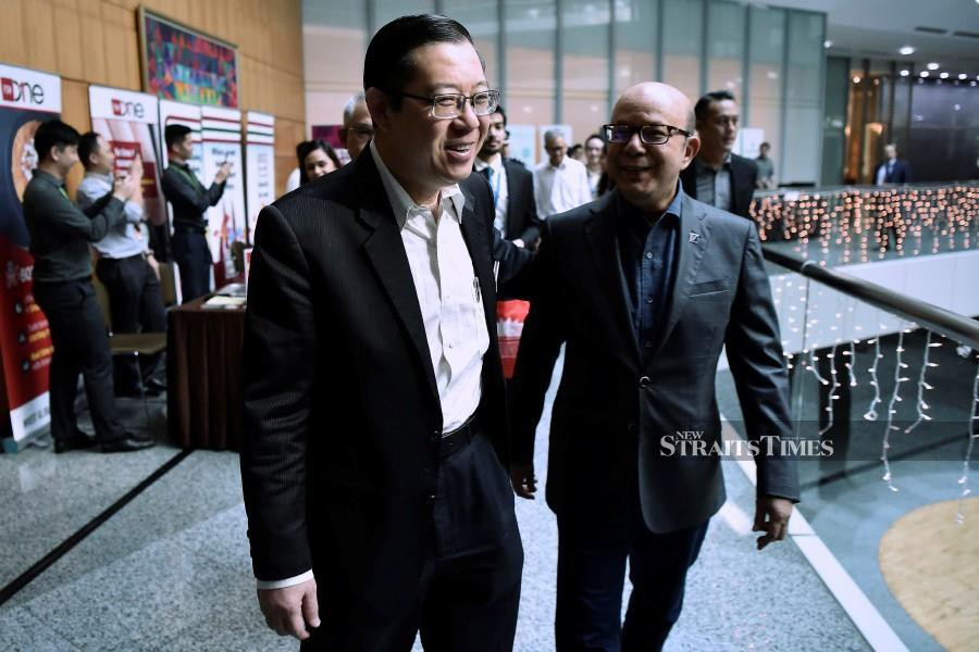 Finance Minister Lim Guan Eng and Securities Commission chairman Datuk Syed Zaid Albar announced new requirements for property crowdfunding at the Fintech Roundtable held here today. --fotoBERNAMA (2019) HAK CIPTA TERPELIHARA