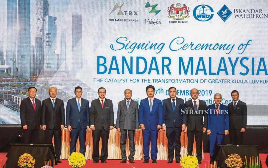 Prime Minister Tun Dr Mahathir Mohamad said the RM140 billion project will also allow for potential co-action in the fields of finance, technology and entrepreneurship. NSTP/LUQMAN HAKIM ZUBIR