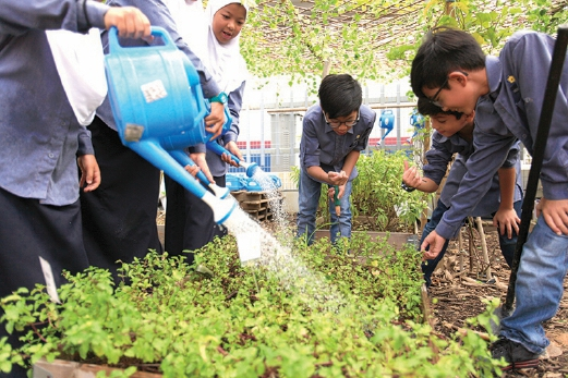 Eco-Science is backyard science where the garden is the science lab. Pix by HASRIYASYAH SABUDIN.