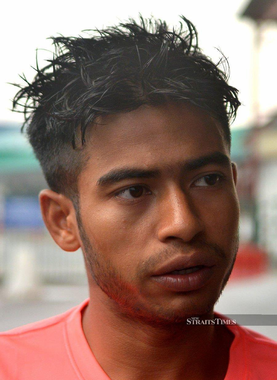 The victim's friend, Mohamed Noor Zafar. (Pic by FAIZ ANUAR)