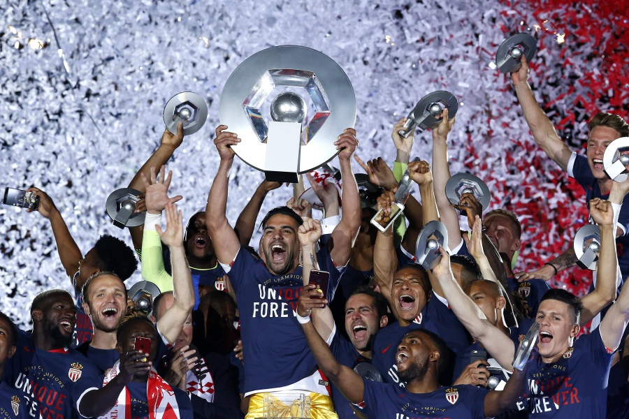 Monaco wins 1st French league title in 17 years