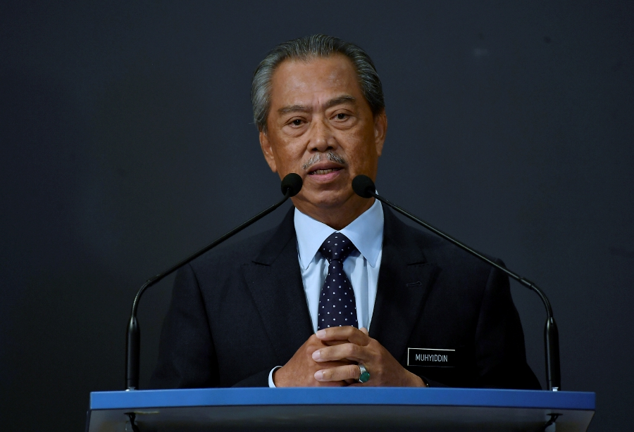 Prime Minister Tan Sri Muhyiddin Yassin will announce a comprehensive economic stimulus package for the country at 3pm today. - BERNAMA pic