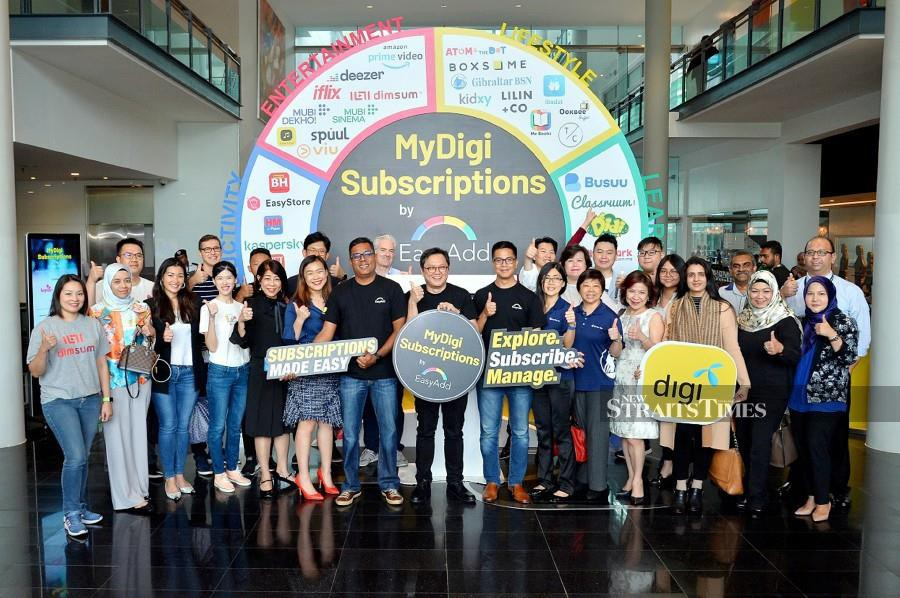 The digital versions of New Straits Times, Berita Harian and Harian Metro, as well as interactive education portal FullAMark, is now easily available for subscription via MyDigi Subscriptions, launched by Digi Telecommunication Sdn Bhd (Digi) yesterday. (NSTP/EMAIL)