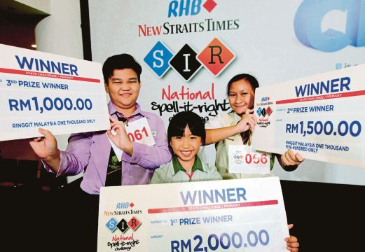 First timer takes home RM2,000 in NST's Spell-It-Right