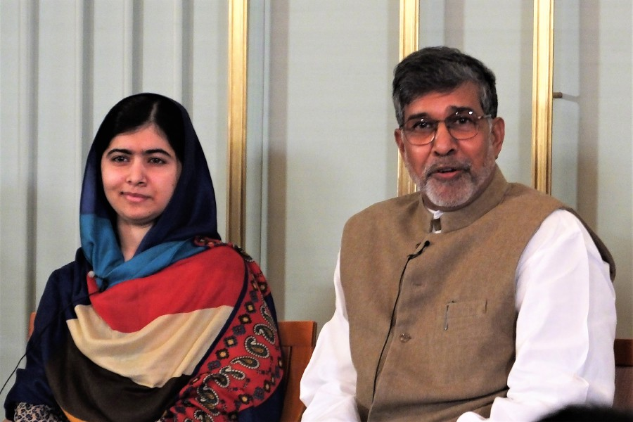 Pakistani activist Malala Yousafzai shared the Nobel Peace prize with Indian children's rights activist Kailash Satyarthi in 2014. Be proud to be a woman.