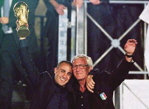 Former Italy and World Cup-winning manager Marcello Lippi (right) is appointed as the new China manager.