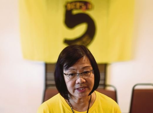 (File pix) Bersih 2.0 chairperson Maria Chin Abdullah has gone to court to challenge her detention under the Security Offences (Special Measures) Act 2012 (Sosma). AFP Photo