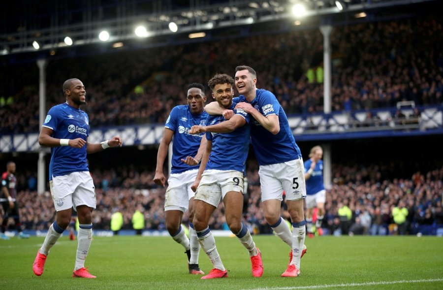 "Everton and England defender Michael Keane said on Wednesday that players will be able to return to Premier League action after only a ""couple of weeks' proper training"". -File pic via REUTERS"