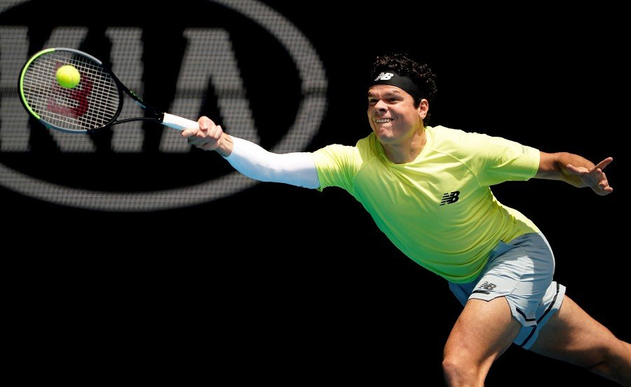 Canada's Milos Raonic in action during his match against Croatia's Marin Cilic. -Reuters