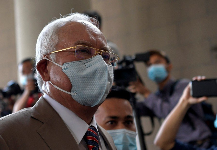 Former prime minister Datuk Seri Najib Razak has been sentenced to 12 years' jail and fined RM210 million after he was found guilty of all seven charges related to the misappropriation of RM42 million of SRC International funds. - Bernama pic