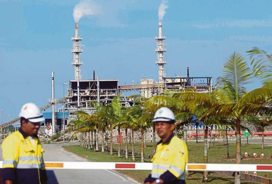 The Lynas processing plant in Gebeng, Kuantan.