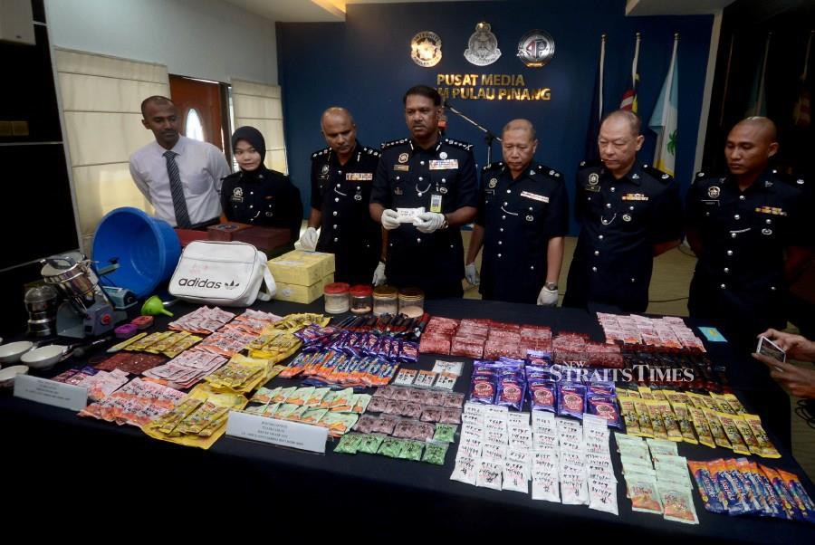 Police Bust Drug Syndicates Seize Over RM510k Worth Of