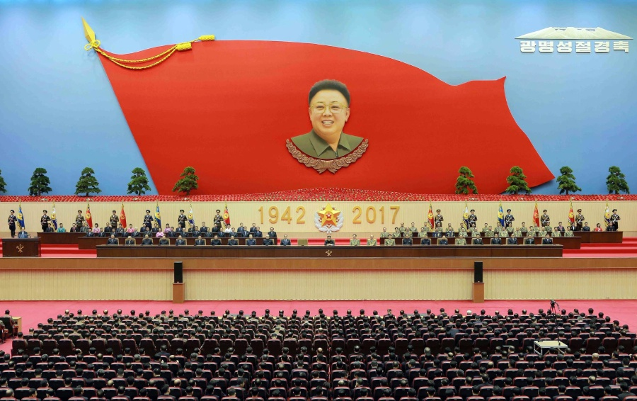 In this Wednesday, Feb. 15, 2017, photo distributed on Thursday, Feb. 16, 2017, by the North Korean government, North Korean leader Kim Jong Un, center, sits at the podium during a national meeting to celebrate the 75th birth anniversary of the late leader Kim Jong Il, in Pyongyang, North Korea. Iorth Korea had few friends even before the assassination of the leader's half-brother at a Kuala Lumpur airport last week, but the fallout from the killing looks set to further isolate the nuclear-armed state. AP Photo