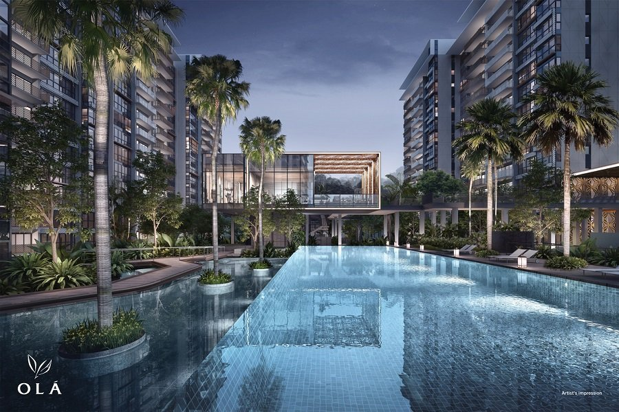 OLÁ Condo - An artist impression of OLÁ executive condominium (EC) in Sengkang, Singapore. -- Courtesy of Gamuda Land