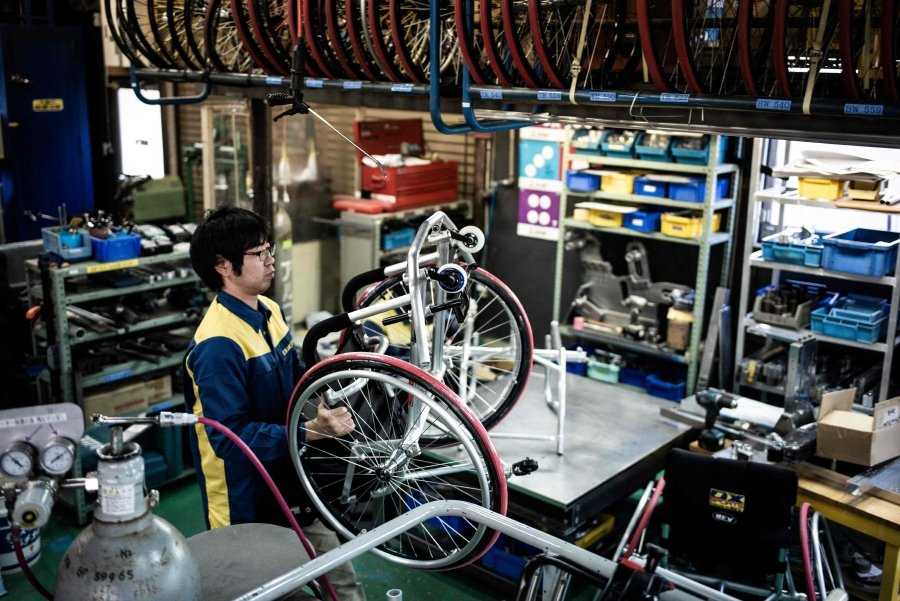 be53f8e3bbf11 Paralympic fast track? Japan firm develops hi-tech wheelchairs   New ...