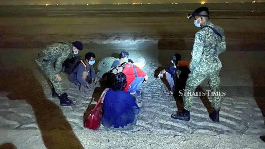 The government will take stern action against any party who tries to enter the country's borders illegally and enforcement agencies will continue to tighten border control, especially at rat lanes. - NST/file pic