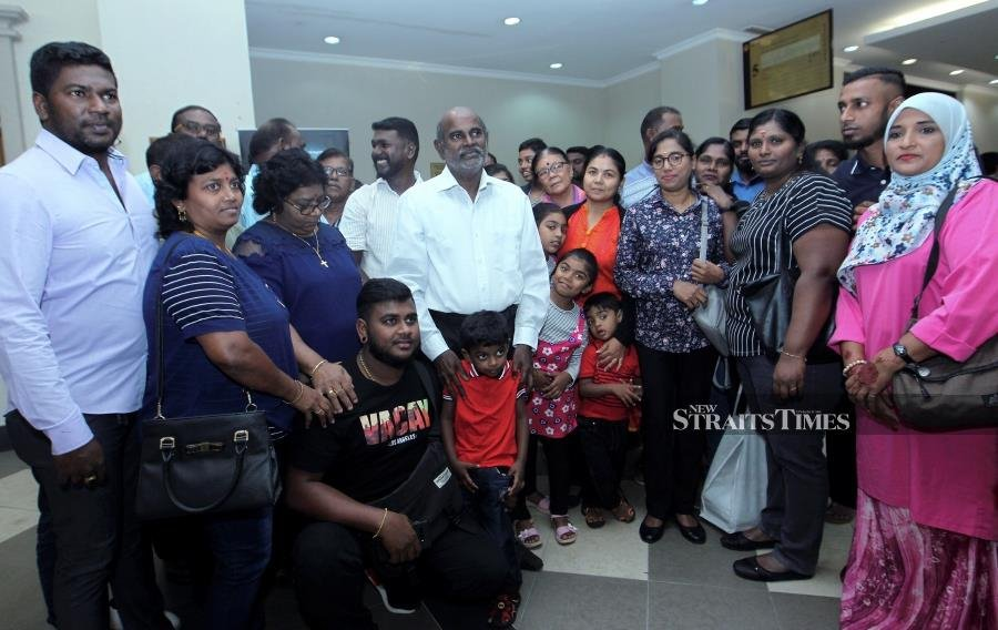 Gunasekaran's family members and supporters who filled the courtroom heaved a sigh of relief upon hearing the verdict. -NSTP/KHAIRUL AZHAR AHMAD.