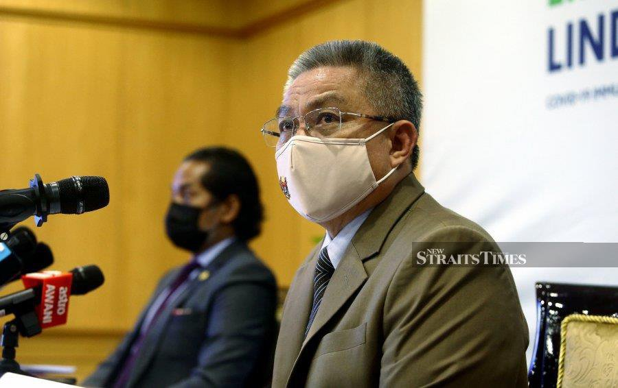 Health Minister Datuk Seri Dr Adham Baba said the government has not yet reached a point where it has to rely on private hospitals, which are themselves stretched for additional resources.  -  NSTP/MOHD FADLI HAMZAH