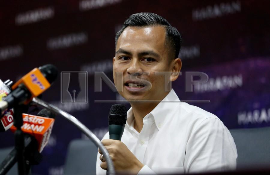 PKR communications director Ahmad Fahmi Mohamed Fadzil says the claim by Pakatan Harapan (PH) communications and mobility committee member Datuk Seri Khairuddin Abu Hassan that a grand scheme is being devised to topple Prime Minister Tun Dr Mahathir Mohamad, is a non-issue. NSTP/IQMAL HAQIM ROSMAN