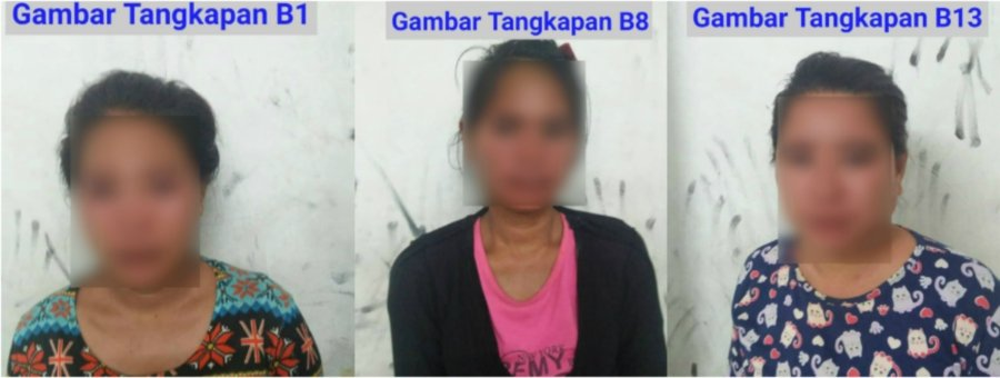 Some of the individuals arrested by police at Bandar Sri Perdana. - NSTP/Pic courtesy of police