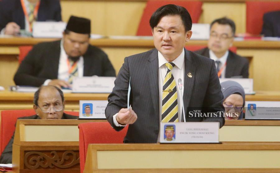 Perak Housing, Local Government, Public Transportation, Non-Muslim Affairs and New Villages Committee Chairman Paul Yong Choo Kiong is expected to be charged at the Sessions Court. - NSTP/File pic