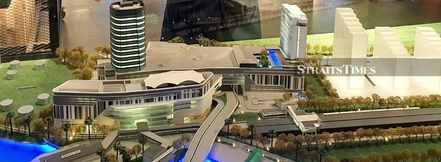 Scale model of Penang Sentral transport hub. Photo by Sharen Kaur