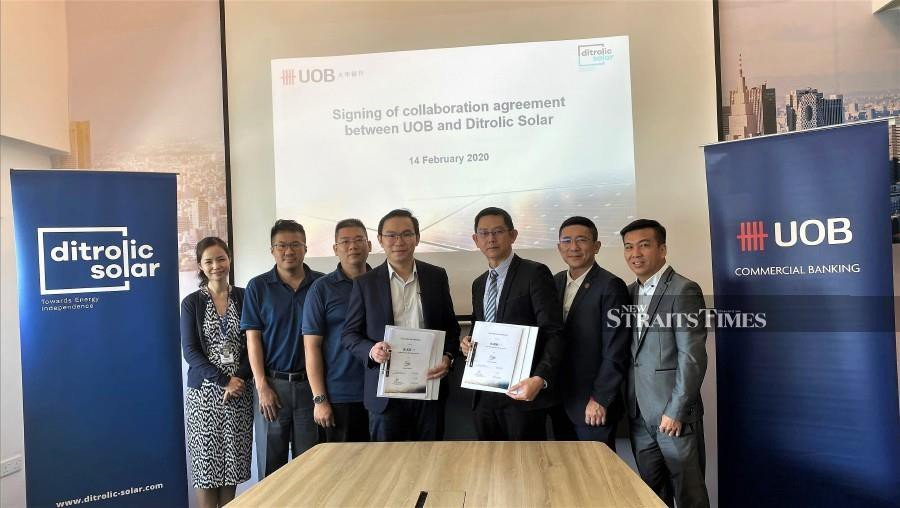 Uob Malaysia Inks Financing Deal With Ditrolic Solar Group For Solar Power Systems