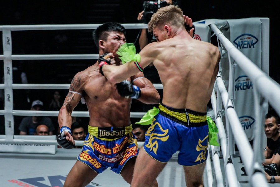 Thailand's Rodtang was too powerful for England's Haggerty.-Pic courtesy of ONE Championship