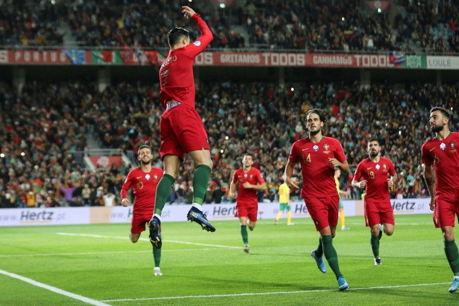 Ronaldo scores three, closes in on 100 goals as Portugal hit six