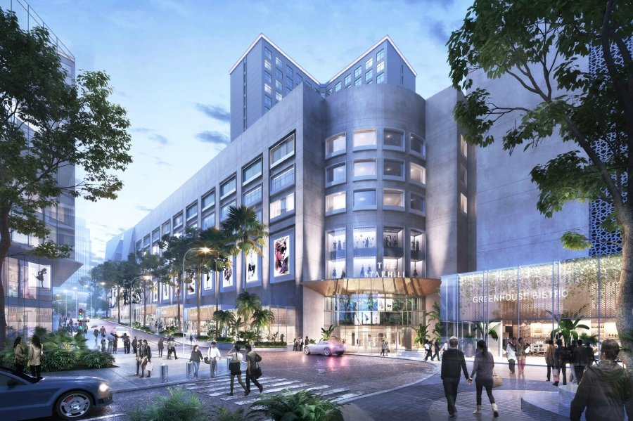 An artist's impression of The Starhill façade facing Jalan Gading in Kuala Lumpur after the asset enhancement works. Courtesy of The Starhill