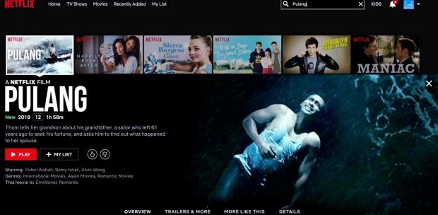 Pulang pemieres to global audience as Netflix original film