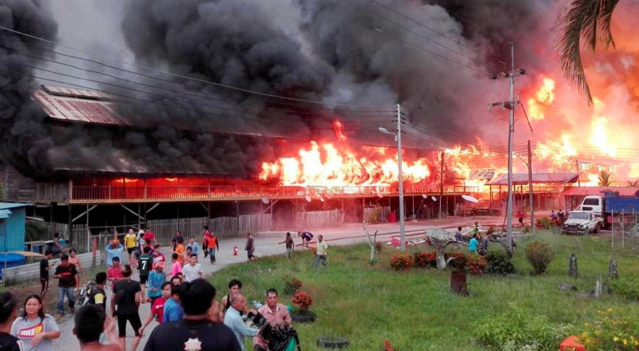 Another longhouse fire in Sarawak, the fourth this year | New