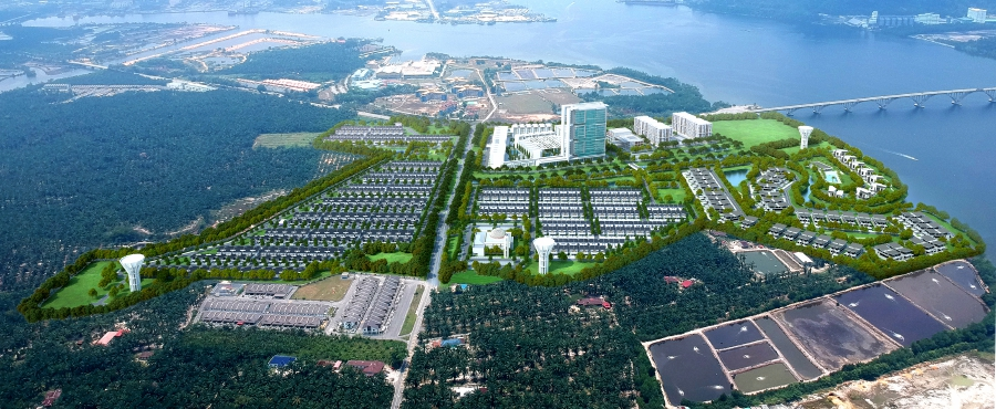 An artist impression of an overview of Riverbank Cove in Manjung, Perak. Courtesy of RH Consortium