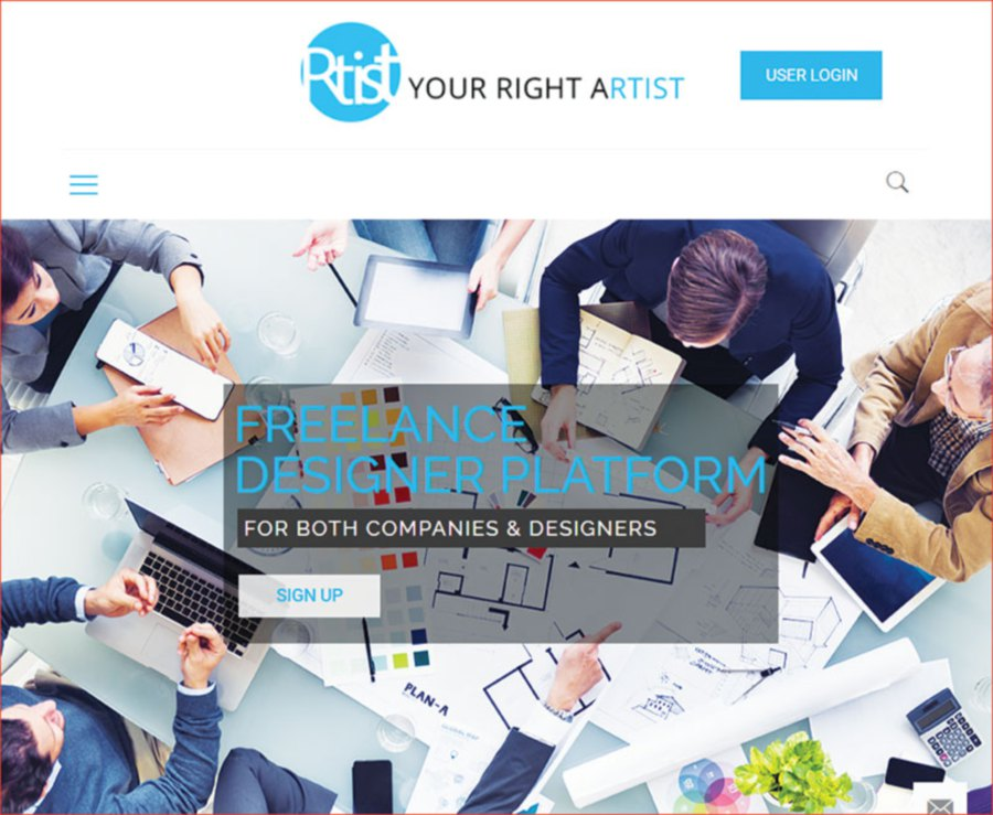 The Rtist portal brings both designers and agencies together.