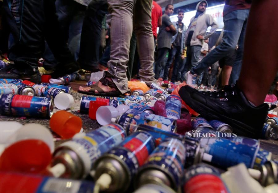 Rubbish left strewn all over the roadside by revelers at popular areas in the city centre after the New Year celebrations last night prove that Malaysians still have a long way to with regard to civic consciousness. -NSTP/MOHD YUSNI ARIFFIN