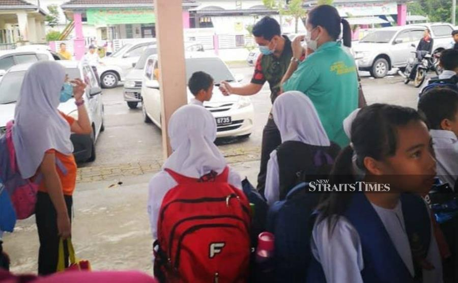 Students under the Integrated Special Education Programme (PPKI) at SK Petra Jaya have been instructed to go under self-quarantine as part of precautionary measures against the Covid-19 outbreak. -NSTP/Courtesy of NST reader
