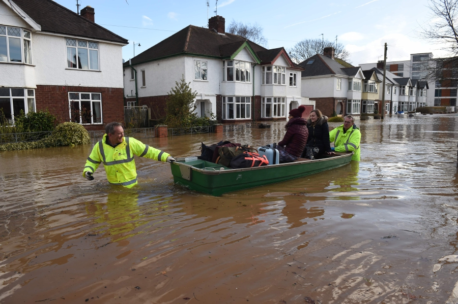 Record-breaking floods across England as Storm Dennis lashes UK