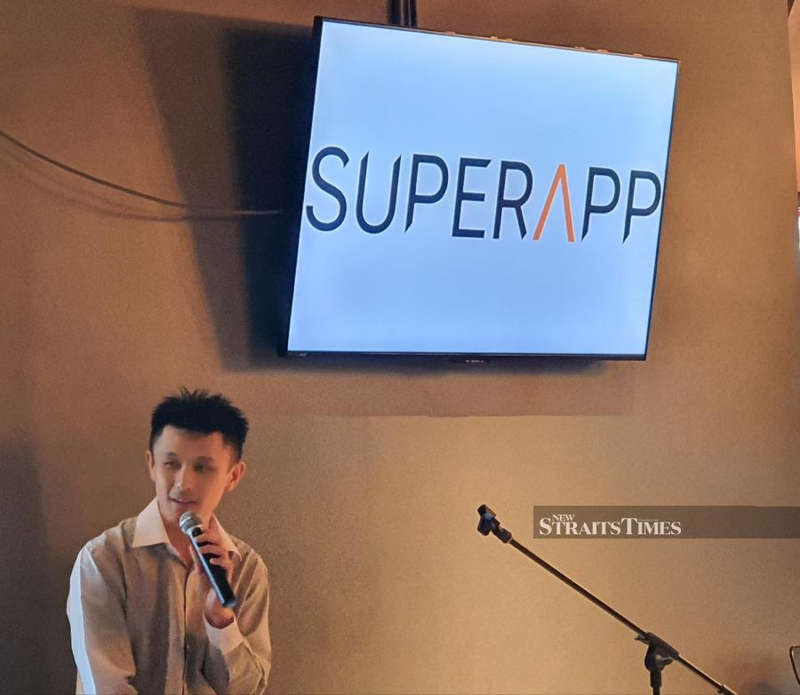 I-Berhad chief technology officer, Ricky Lim said the super app would create an ecosystem where users would not need to use multiple apps. PHOTO/SHAREN KAUR