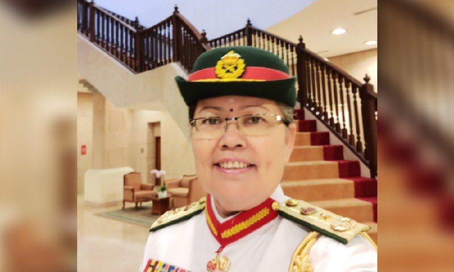 Brigadier-General Suriakala Suriabagavan who will be promoted to major-general. -Pic courtesy of Defence Ministry