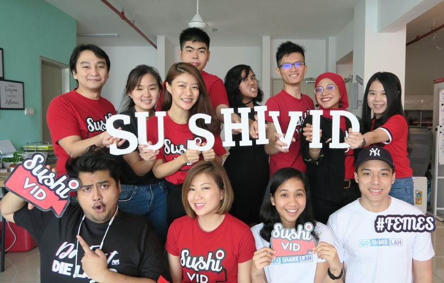SushiVid Team (Foong in red in the front row).