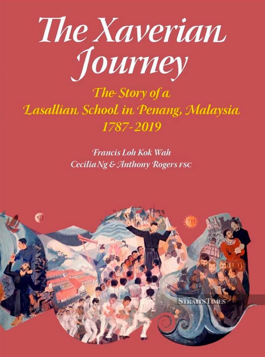 Cover of the newly-launched book 'The Xaverian Journey'. - NSTP/EMAIL
