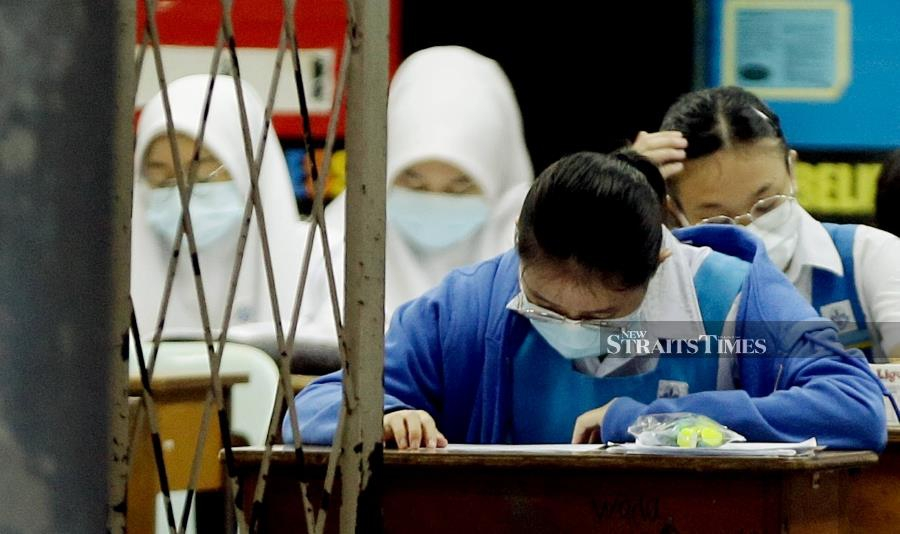 Today marks the first day of SPM and SVM nationwide, with students sitting for Bahasa Malaysia Papers 1 and 2 in the morning and afternoon respectively. - KHIS/NADIM BOKHARI