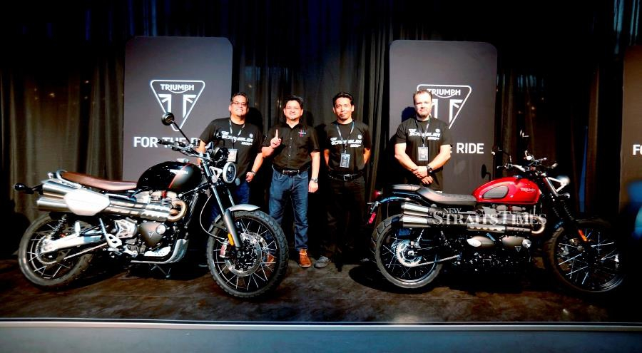 """Triumph Motorcycles Malaysia introduces five new """""""