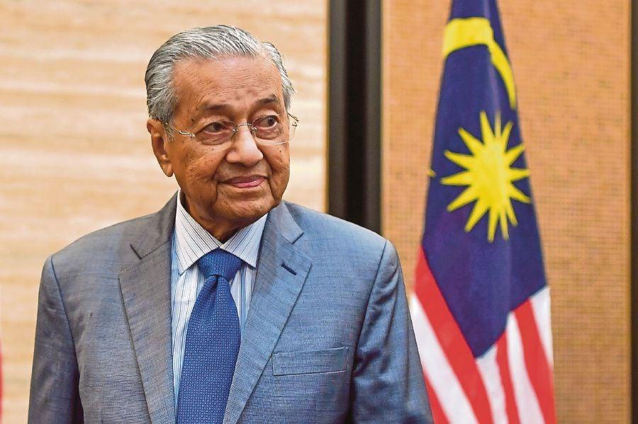 "Interim Prime Minister Tun Dr Mahathir Mohamad has returned to Parti Pribumi Bersatu Malaysia (Bersatu) – but in the new capacity of ""advisor."" BERNAMA pic"