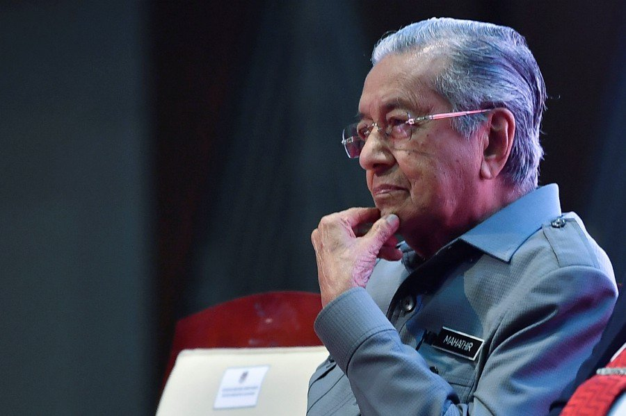 Former Prime Minister Tun Dr Mahathir Mohamad is now interim Prime Minister pending the appointment of a new prime minister. - Bernama pic