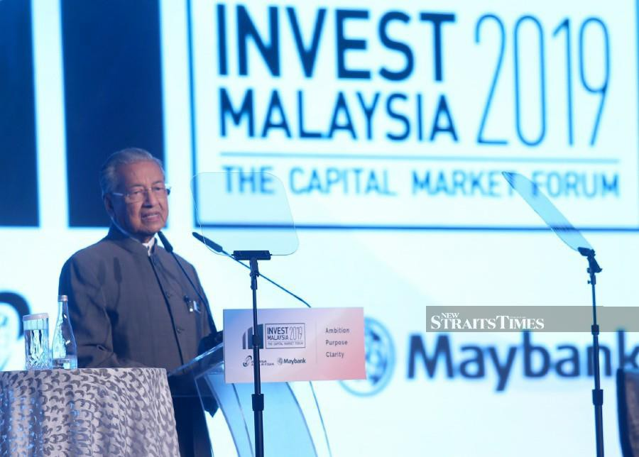 """Our goal is clear — to be a developed nation in every sense of the word. It is a development that must benefit everyone, where prosperity is shared and growth is sustainable said Prime Minister Tun Dr Mahathir Mohamad. - FILE PIC"