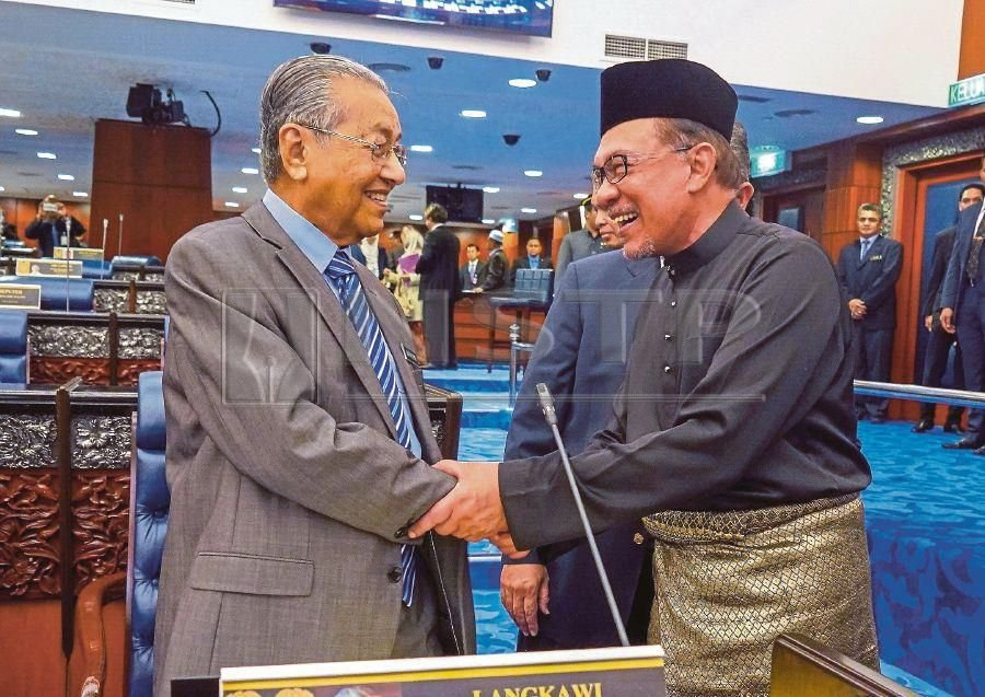 esident-elect, Datuk Seri Anwar Ibrahim admitted to being pleased at Tun Dr Mahathir Mohamad's acceptance of the 'reformasi' struggle championed by the party. (NSTP Archive)